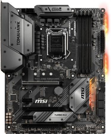Материнская плата MSI MAG Z390 TOMAHAWK Socket 1151 v2 Z390 4xDDR4 3xPCI-E 16x 2xPCI-E 1x 6 ATX Retail цена и фото