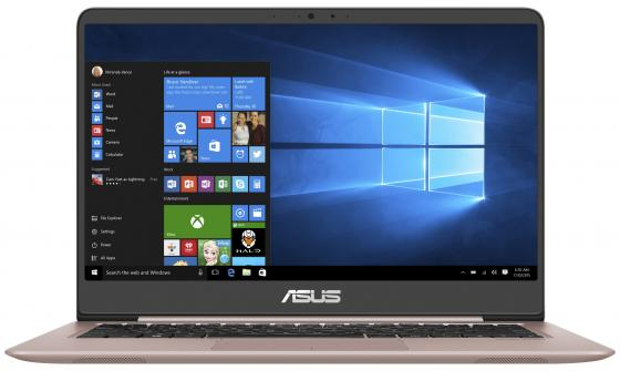 Ноутбук ASUS Zenbook UX410UF-GV179T 14 1920x1080 Intel Core i5-8250U 256 Gb 8Gb nVidia GeForce MX130 2048 Мб розовый Windows 10 Home 90NB0HZ4-M03850 ноутбук ноутбук asus zenbook ux410uf