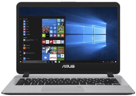 Ноутбук ASUS X407UA-EB205T 14 1920x1080 Intel Core i3-7100U 256 Gb 8Gb Intel HD Graphics 620 серый Windows 10 Home 90NB0HP1-M04400 ноутбук asus x403ma2930 x403ma2940 14