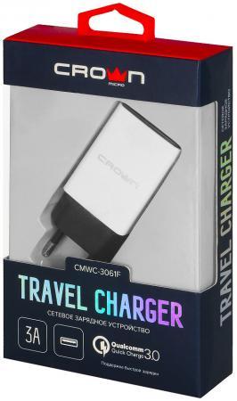 Сетевое зарядное устройство CROWN CMWC-3061F 3/2/1.5 А белый зарядное устройство crown cmwc 3083f 3xusb white grey