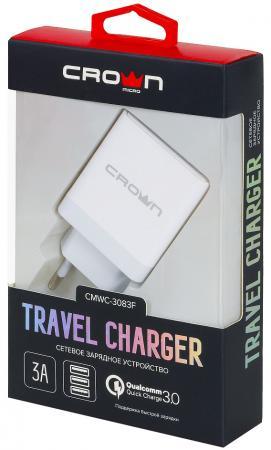 Сетевое зарядное устройство CROWN CMWC-3083F 3/2.4 A белый