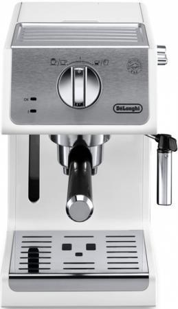 лучшая цена Кофеварка эспрессо Delonghi ECP33.21.W 1100Вт белый