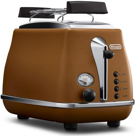 Тостер Delonghi CTOV2103.BW 900Вт коричневый сэндвич тостер ariete 1981 900вт