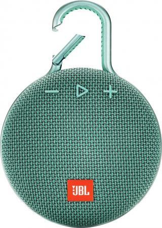 цена на Колонка порт. JBL Clip 3 светло-зеленый 3.3W 1.0 BT 1000mAh (JBLCLIP3TEAL)