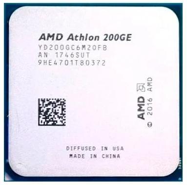 Фото - Процессор AMD Athlon 200GE AM4 (YD200GC6M2OFB) (3.2GHz/100MHz/Radeon Vega 3) OEM процессор amd athlon 200ge am4 yd200gc6m2ofb 3 2ghz 100mhz radeon vega 3 tray