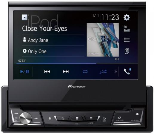 Автомагнитола CD DVD Pioneer AVH-A7100BT 1DIN 4x50Вт