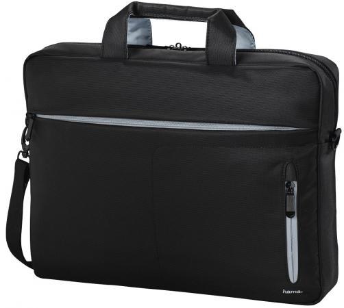 """Сумка для ноутбука 13.3"""" HAMA Marseille полиэстер черный серый 00101782 цена и фото"""