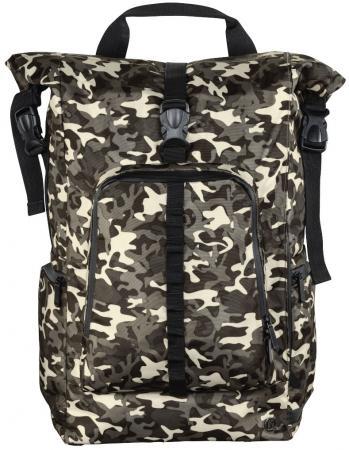 """Рюкзак для ноутбука 15.6"""" HAMA Roll-Top полиэстер камуфляж коричневый 00101819"""