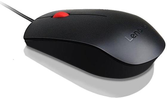 Мышь Lenovo Essential черный оптическая (1600dpi) беспроводная USB