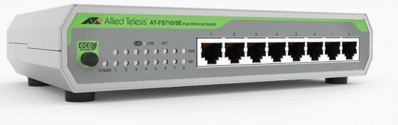 Коммутатор Allied Telesis AT-FS710/8E-60 8x100Mb неуправляемый