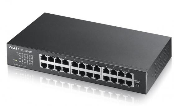 Коммутатор Zyxel GS1100-24E GS1100-24E-EU0101F 24G неуправляемый цена