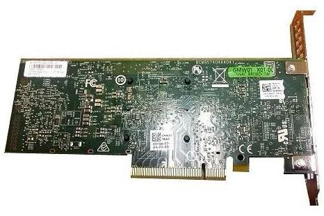 Адаптер Dell Dual port Broadcom 57416 10Gbit Base-T PCIe FP for 14G (540-BBUO) адаптер dell 540 bbvm dual port broadcom 57416 10gbit base t pcie lp for 14g