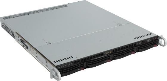 Серверный корпус 1U Supermicro CSE-813MFTQC-R407CB 2 х 2400 Вт чёрный карман для схем legrand 36580