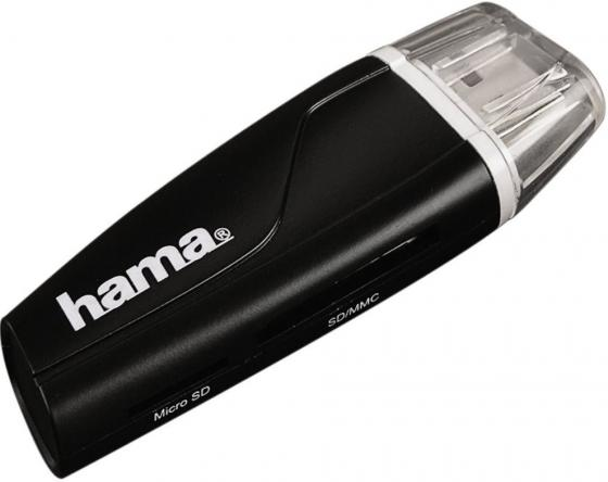 Устройство чтения карт памяти USB2.0 Hama 00054115 черный устройства чтения карт памяти