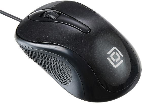 Мышь Oklick 385M черный оптическая (1000dpi) USB для ноутбука (2but)