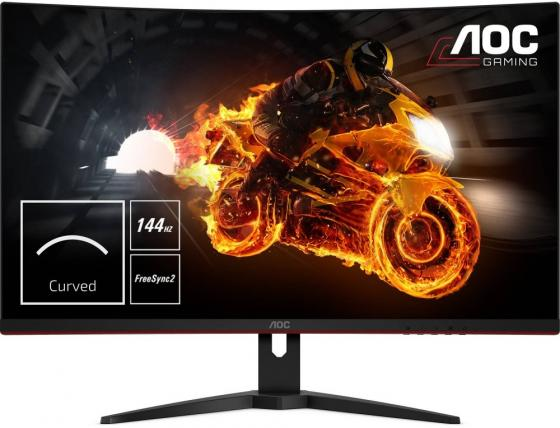 Фото - Монитор 32 AOC C32G1(00/01) черный красный IPS 1920x1080 250 cd/m^2 1 ms HDMI DisplayPort VGA Аудио монитор 27 aoc 27v2q серебристый ips 1920x1080 250 cd m^2 5 ms hdmi displayport аудио