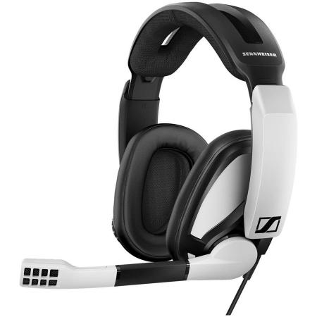 Игровая гарнитура проводная Sennheiser GSP 301 черный белый цена 2017