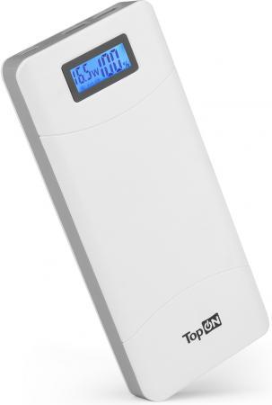 Фото - Внешний аккумулятор Power Bank 18000 мАч TopON TOP-T80 белый аккумулятор