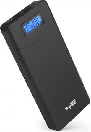 Внешний аккумулятор Power Bank 18000 мАч TopON TOP-T80 черный аккумулятор внешний tocharge черный