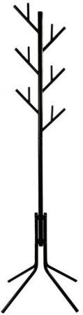Вешалка напольная Бюрократ CR-003/BLACK черный основание ножки наконечники черный крючки двойные byz yc 003 black