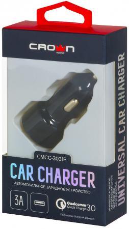 Фото - Автомобильное зарядное устройство Crown CMCC-3031F 3/2/1.5 А черный зарядное