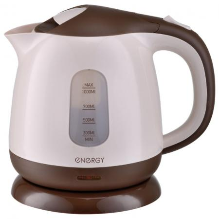 Чайник электрический Energy E-275 1100 Вт коричневый 1 л пластик чайник energy e 275