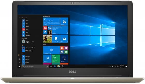 Ноутбук Dell Vostro 5568 i5-7200U (2.5)/4G/1T/15,6FHD AG/NV GTX940MX 2G/noODD/Backlit/Win10 (5568-7233) Gold ноутбук трансформер dell vostro 5568 5568 2846