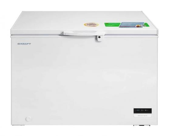 МК ларь KRAFT BD(W)-335BL с LCD дисплеем цена