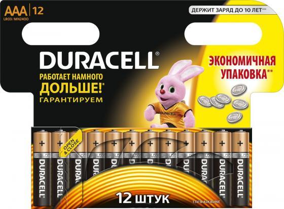 Батарейка Duracell LR03-12BL (MN 2400) (LR 03/MN 2400 AAA /1 шт) батарейка космос koclr034bl lr lr03 bp 4 цена за блистер 4шт