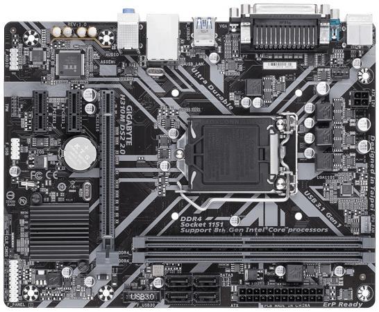 Материнская плата GigaByte H310M DS2 2.0 Socket 1151 v2 H310 2xDDR4 1xPCI-E 16x 2xPCI-E 1x 4 mATX Retail