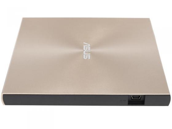 Привод DVD-RW Asus SDRW-08U9M-U золотистый USB slim ultra slim M-Disk Mac внешний RTL внешний привод bluray asus bw 12d1s u bd±r ±rw usb 3 0 чёрный