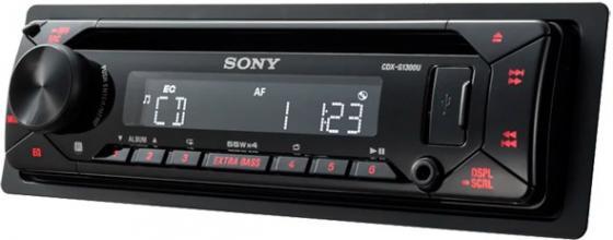 Автомагнитола CD Sony CDX-G1300U 1DIN 4x55Вт автомагнитола cd pioneer deh x8700bt 1din