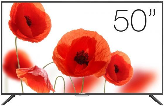 Телевизор LED 50 Telefunken TF-LED50S60T2SU черный 1920x1080 50 Гц Wi-Fi Smart TV USB VGA RJ-45 Антенный вход Разьем для наушников