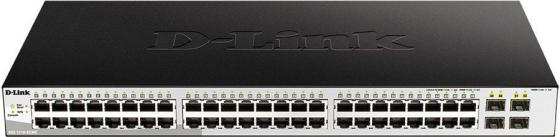 Фото - Коммутатор D-Link DGS-1210-52MP/ME DGS-1210-52MP/ME/B1A 48G 4SFP 48PoE 370W управляемый коммутатор d link управляемый dgs 1210 52mpp me b1a