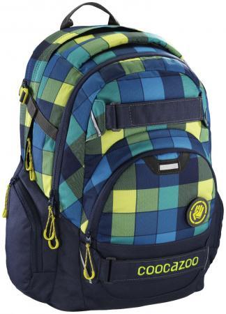 Школьный рюкзак светоотражающие материалы Coocazoo CarryLarry2: Lime District 30 л синий салатовый 00138739 рюкзак светоотражающие материалы coocazoo jobjobber2 checkered bolts 30 л рисунок 00129887