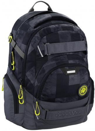 Школьный рюкзак светоотражающие материалы Coocazoo CarryLarry2: Mamor Check 30 л черный серый 00138738 hama сумка coocazoo hangdang peacoat