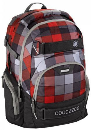 72ab21cefcbf Школьный рюкзак светоотражающие материалы Coocazoo CarryLarry2: Red  District 30 л серый красный 00129959