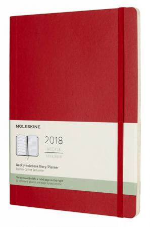 Еженедельник Moleskine CLASSIC SOFT WKNT XL 190х250мм 144стр. мягкая обложка красный еженедельник moleskine classic wknt xl 190х250мм 144стр черный