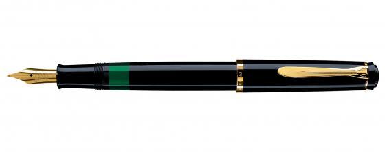 Ручка перьевая Pelikan Elegance Classic M200 (993915) черный F перо сталь нержавеющая/позолота подар.кор. ручка перьевая pelikan office twist p457 807258 зеленый неон m перо сталь нержавеющая карт уп