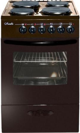 лучшая цена Электрическая плита Лысьва ЭП 402 МС коричневый