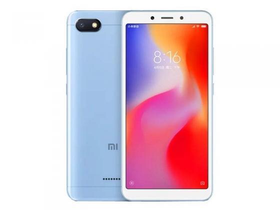 Смартфон Xiaomi Redmi 6A голубой 5.45 16 Гб LTE Wi-Fi GPS 3G смартфон huawei y5 2018 prime синий 5 16 гб lte wi fi gps 3g dra lx2