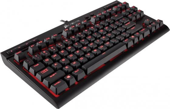 Клавиатура проводная Corsair Gaming Gaming K63 Cherry MX Red USB CH-9115020-RU USB черный new arrival pbt keycap cherry profile double shot 106keys 3494 keycaps for mx switch mechanical keyboard