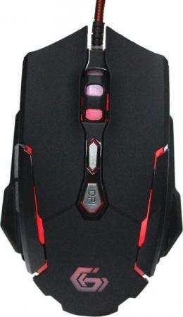 Gembird MG-600 USB {Мышь игровая, черн, код Survarium, 7кн, 3200DPI, подсвет 4 цв, ПО, каб ткан 1.8м} цена