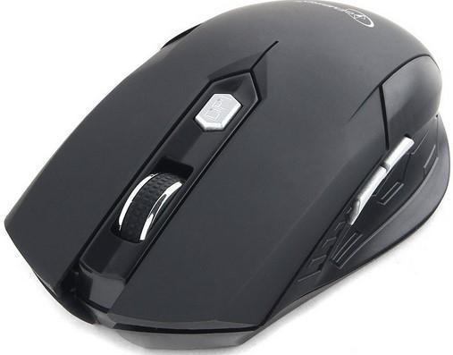 Gembird MUSW-240 {Мышь беспроводная, 2.4ГГц, черн, 6кн, 1600DPI} мышь беспроводная gembird musw 200bky soft touch черн желт 2кн колесо кнопка 2 4ггц