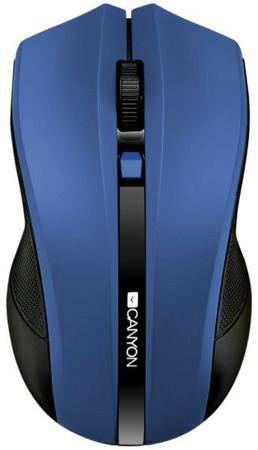 Мышь беспроводная CANYON CNE-CMSW05BL, 2.4Ghz wireless Optical  Mouse with 4 buttons, DPI 800/1200/1600, голубой rxe x6 usb 2 0 wired gaming optical 800 1600 2400dpi mouse white
