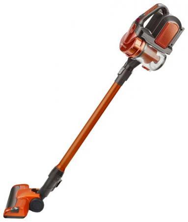 Пылесос вертикальный+ручной Ginzzu VS402, аккум. 2200мАч, без мешка, оранжевый