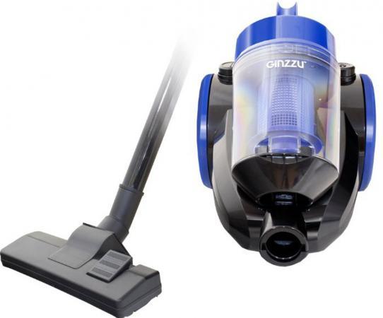 Пылесос Ginzzu VS422, 1600/270Вт, без мешка, черный/синий мышь проводная corsair gaming scimitar pro rgb ch 9304111 eu чёрный usb