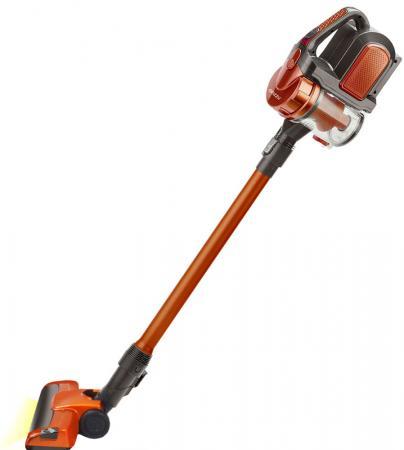 Пылесос вертикальный+ручной Ginzzu VS401, аккум.2200мАч, без мешка, оранжевый ручной пылесос handstick ginzzu vs401 150вт сиреневый