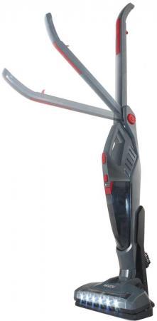 Пылесос вертикальный+ручной Ginzzu VS417, аккум. 2200мАч, 2 в 1, без мешка, серый/красный