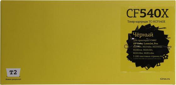 Фото - Картридж T2 TC-HCF540X черный (black) 3200 стр. для HP Color LaserJet Pro M254/280/281 картридж t2 tc hcf540x голубой cyan 2500 стр для hp color laserjet pro m254 280 281